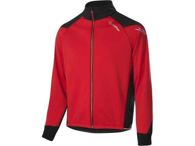 Löffler Bologna Windstopper Warm Fahrrad Jacke Herren red